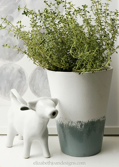 Glazed Herb Planter