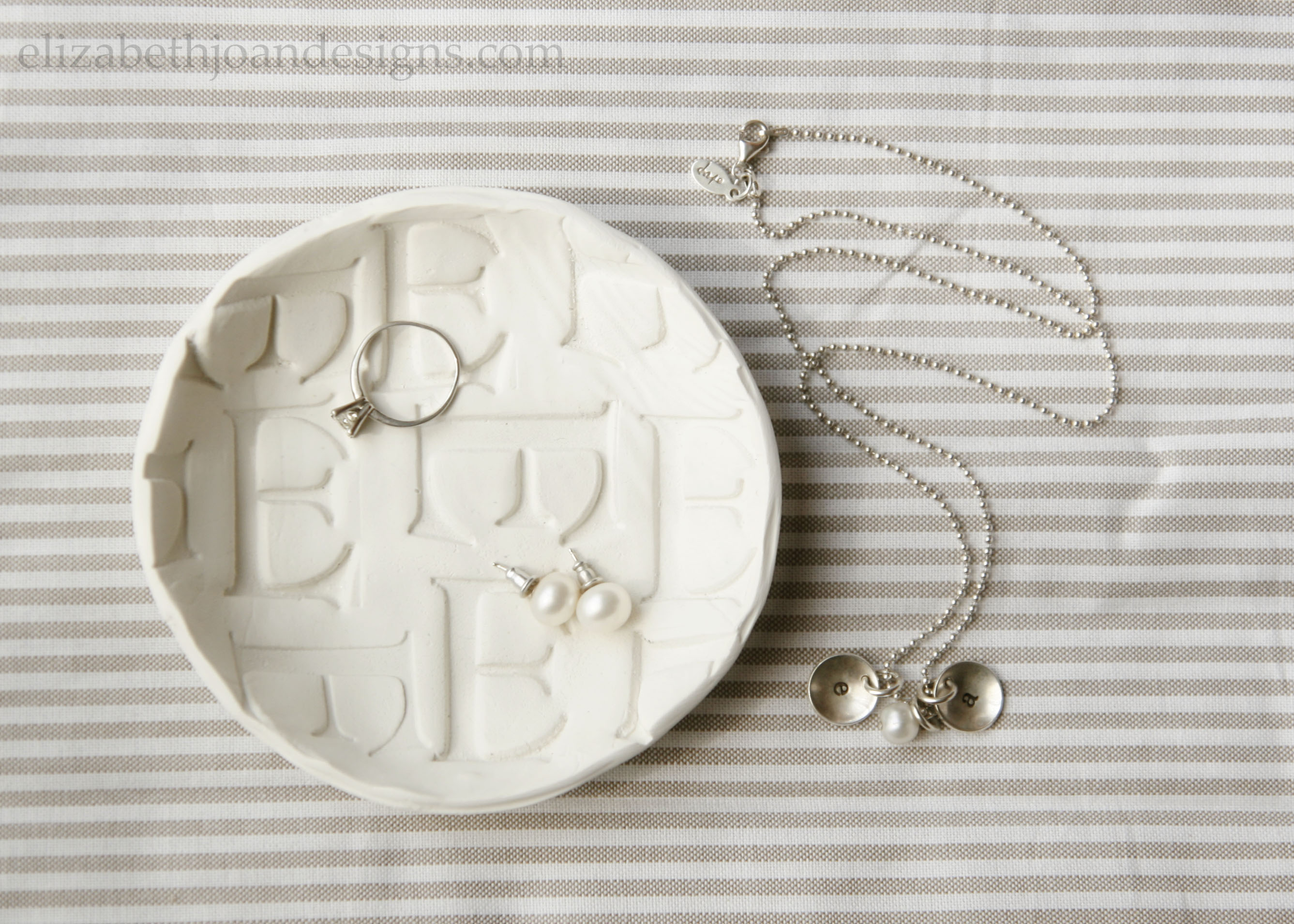 Monogrammed Stamped Clay