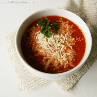 Crock Pot Pizza Soup
