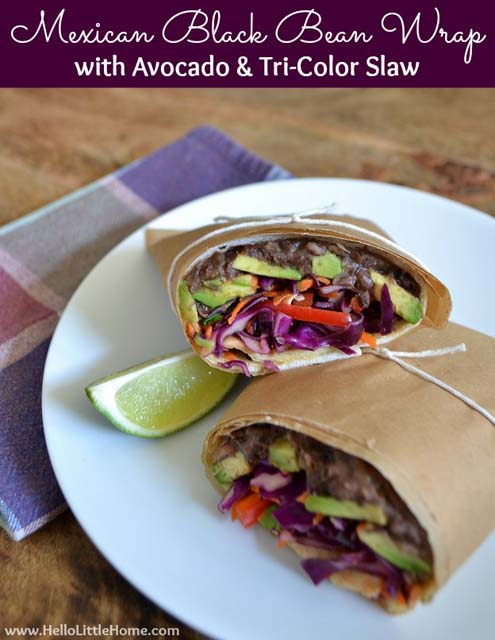 mexican-black-bean-wrap-with-avocado-and-tri-color-slaw