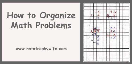 How to organize math problems