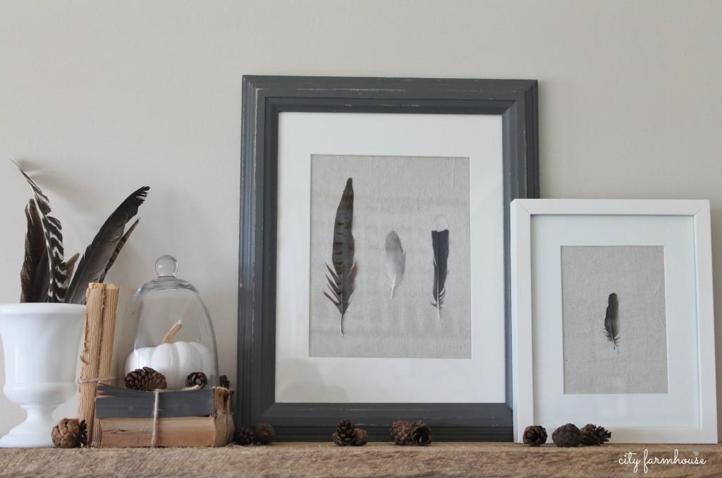 DIY-Feather-Art-Easy-Fall-Project-City-Farmhouse