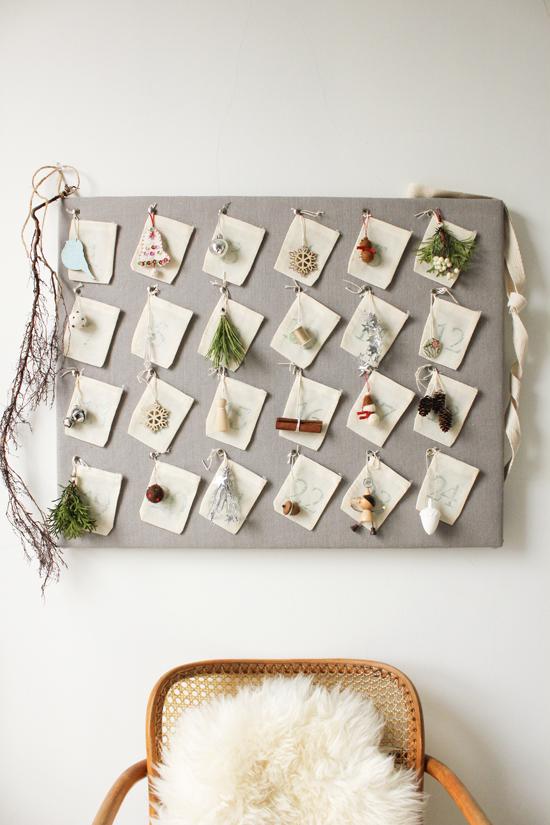 Muslin Spice Bags & Ornaments Advent Calendar