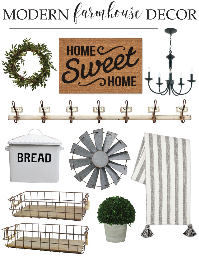 Modern Farmhouse Decor Finds Elizabeth Joan Designs