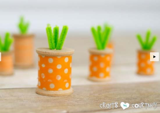 Washi-tape-spool-carrots