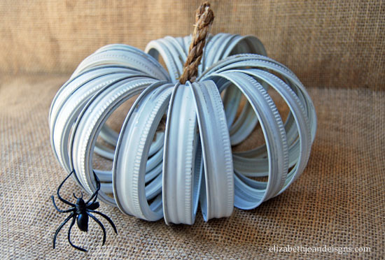 Mason Jar Ring Pumpkin