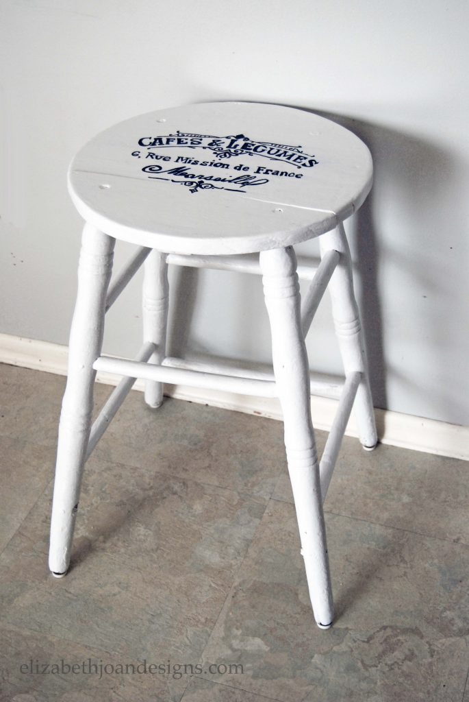 French Lettered Milking Stool