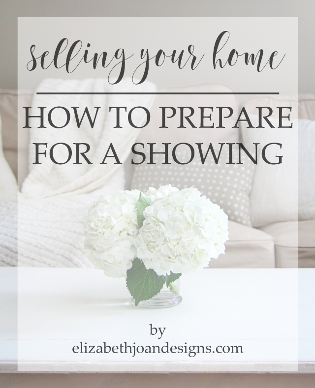 How To Prepare For A Showing/Open House