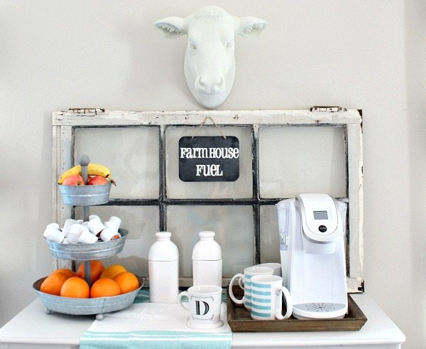 No-cost-decor-ideas-use-what-you-have-and-get-creative.-Perfect-for-this-farmhouse-coffee-station.-Shopped-the-house-and-used-a-little-chalk-paint
